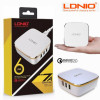 Сетевое зарядное устройство LDNIO A6704 Quick Charge 7A 35W
