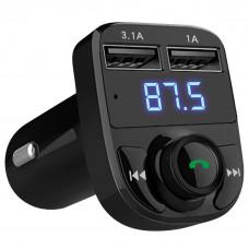 Автомобильный FM-трансмиттер X8 Wireless 2USB
