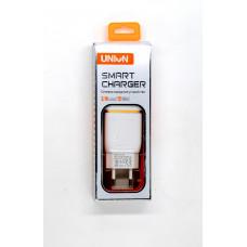 Сетевое зарядное устройство 2 выхода USB 2.4А UNION UN-22