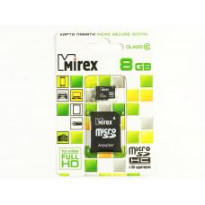 Карта памяти microSD Mirex 8Gb