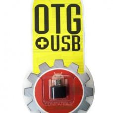 Переходник OTG MicroUSB (папа) to USB (мама)