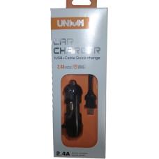 Зарядное устройство в прикуриватель Union UN-889 1 USB 2,4А