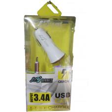 Зарядное устройство в прикуриватель LJ-Power 1 USB 3,4А iPhone