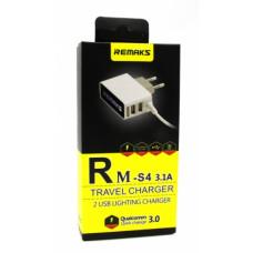Сетевое зарядное устройство Remax Rm-s4 Micro-Usb