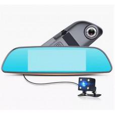 Видеорегистратор зеркало XPX XZ867 с двумя камерами