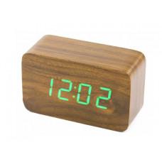 Часы электронные в деревянном корпусе VST-863
