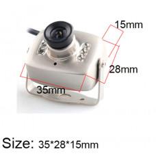Аналоговая мини камера с инфракрасной подсветкой
