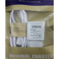Сетевое зарядное устройство UNION UN-136 2.5A 2USB Micro-USB