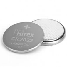 Литиевая батарейка Mirex CR2032