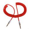 Аудио кабель (AUX) джек 3,5 мм-джек 3,5 мм красный