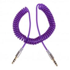 Аудио кабель (AUX) джек 3,5 мм-джек 3,5 мм сиреневый