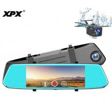 Видеорегистратор зеркало XPX ZX819 с задней камерой