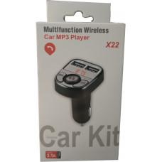 Автомобильный FM-трансмиттер X22 Wireless 2USB