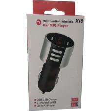 Автомобильный FM-трансмиттер X18 Wireless 2USB