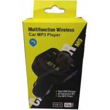 Автомобильный FM-трансмиттер M9 Wireless 2USB