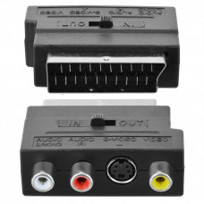 Адаптер аудио-видео SCART - 3хRCA и S-VIDEO