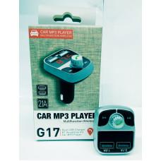 Автомобильный FM-трансмиттер G17 Wireless 2USB